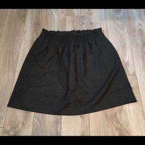 NWT J.Crew Gray Wool Blend Elastic Waist Skirt